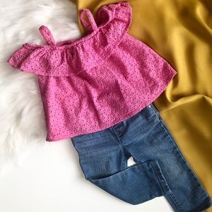 Pink Summer Top and Jeans 2 pc. Bundle
